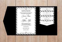 Wedding Pocket Invitation Sets