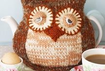 Projects to Try / Knitting owl tea cosy