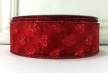CottageCO: Valentine Ribbon / Ribbons for Valentine's Day crafts, decor and diy projects. Visit our shop to see our vast assortment of ribbons, from satins to burlaps to wired seasonal ribbons and supplies for diy crafting and home decor. https://www.etsy.com/shop/CottageCraftsOnline