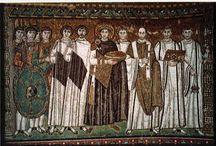Arte tardo antica Bizantina. / Formatasi nel tardo impero romano e si allontana dall'arte Greca e ciò è probabilmente dato dallo 'spiritualismo romano'.