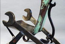 Recycled metal / Spanner chair