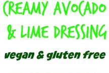 Salad dressings and dips