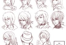 Inspiration: Hair  Expressions ----Manga Art Drawing Sketch ing Head Hairstyle----  [[[Batch8 by omocha-san on deviantART]]]