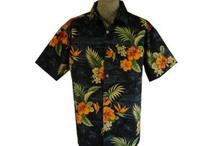 Hawaiian Shirts / Hawaiian aloha shirts for men with matched shirt pockets. Made in USA