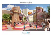 Aires de jeux Pro Urba / Fabricant d'aires de jeux pour enfants pour les collectivités et centres commerciaux, Pro Urba a fait appel à Piranèse pour représenter en 3D de son nouveau projet lors d'une compétition lancée par Immochan, qu'ils ont remporté bien sûr ! l'ont remportée bien sûr !