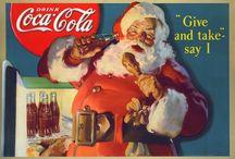 Santa Claus - Coca cola / Santa Claus in Coca Cola advertising. Drawn by  Haddon Sundblom. see more: http://zdrowareklama.blogspot.com/2014/11/prawdziwa-historia-swietego-mikoaja.html