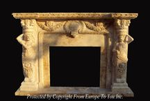 Marble Fireplace Mantel  / Beautiful marble fireplace mantel for your home.