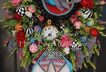 Wreaths mad hatter