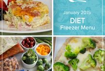 Diet January 2015 Freezer Menu / Want a healthier start to the new year? Our Diet January 2015 Menu is packed with flavorful meals to keep your nutrition in check and your waistline trim. / by Once A Month Meals