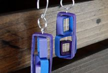 ■ Quilling and origami earrings