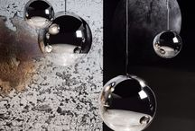 Tom Dixon Mirror Ball Lights / Sometimes your biggest failure could be your biggest success. The aim was to produce a completely spherical, highly mirrored object that would disappear into its surroundings. Instead it does the opposite and is an ultravisible, highly reflective object that mirrors its environment.