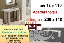 Tavoli fissi / allungabili e Tavoli a consolle / Tables and consoles