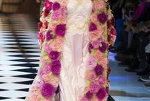 Dolce & Gabbana F/W16/17 #DGFabulousFantasy Trends / Precious and Sparkling Clothes. Very Female, Chic Clothes with Bright Colors and Chrystals. Velvet Clothes, Maxi Coats , White Shirts and Silk Petticoats.