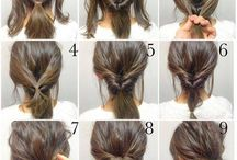 Hairstyle / If you don't have insightful hand,here are the perfect pictures with all steps to realise a cute hairstyle.Also,if you don't have any ideas of hairstyle you can inspire from there. Enjoy!