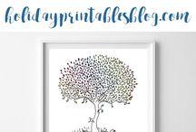 Spring Holidays Printables | Spring Printable Art / Spring Printable Art | Easter Printables | Mother's Day Printable Art | Mother's Day Printable Gift Ideas | St. Patrick's Day Printable Art