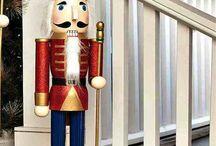 Tall Red Nutcracker Toy