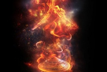 Fire / Danger, mystery, and beauty draped in a magical glow.  Respect the flame.