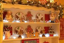 Christmas Gingerbread Display