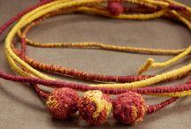 textile jewllery