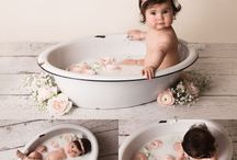 milk flower bubbles  bath baby