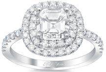 Asscher Engagement Rings / Asscher cut diamonds are square step cut diamonds. They are beloved because of their elegance, demure sparkle, and unique faceting pattern. deBebians manufactures each of our engagement ring settings in Los Angeles, CA to the dimensions of you center stone.