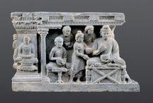 Buddha Gandhara Comics in stone