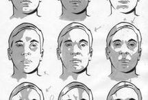 drawing shadows face