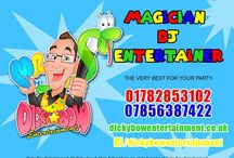 Dicky Bow Entertainment / Chris Talbot-Close up magic, walk around magic - magic shows adults and children, children's magic show, balloon modelling, balloon decorations, junior disco, party games, Dj adults and children. www.onestopweddingshopstaffordshire.co.uk