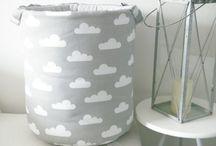 Kosz na zabawki / basket for toys / Kosz bawełniany znakomity do przechowywania zabawek i innych różności np. poduszek, pledów, prania. www.betulli.pl