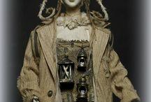 ПАСТУХ СВЕТЛЯЧКОВ / Папье-маше ткань 35 см 2008 год. Работа была сделана для выставки DOLLART.RU 2008