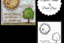 Digital Stamps by stuDIo DUDA art / My artwork is now available as Digital Stamps on Etsy.  Instant Download to print, cut, and color.  Use for card making, scrapbooking, embroidery, or just for coloring fun.