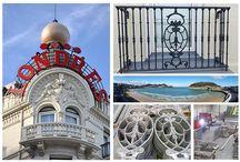 Proyecto en el Hotel de Londres de San Sebastián-Donostia / Renovación de los balcones en el Hotel de Londres de San Sebastián-Donostia. Barandillas en aluminio. #Donostia #Sansebastián #Londres #playa