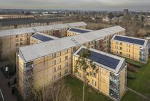 Brunel University Halls of Residence / Brunel University Halls of Residence with our 50 Double Roman Tile in Slate Grey and the InDaX PV system