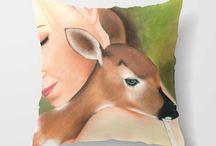 Artful Cushions / Cushions made from original paintings