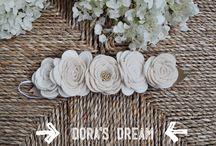 DORA'S DREAM / Az első #virágkoszorú kollekció  #filcvirágok #hajpánt #hajpant #virágkorona #feltflowers