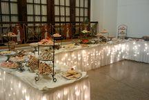 Wedding Buffet table decor