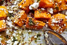 Roasted pumpkin, feta and honey