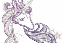 unicorn embroidery