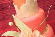oriental inspiration / dalia gold and orange in flower paste