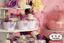 Cupcakes with flowers and butterflies for you to inspire .. / Cupcakes with flowers and butterflies for you to inspire .. Cupcakes de flores e borboletas para você para inspirar ..