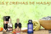 Aceites y cremas de masaje. Horasdeplacer.com #sexshop / Aceites y cremas para masajear el cuerpo.