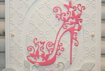 Pink shoe card