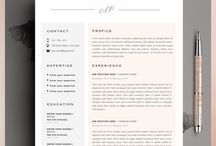 Resume designs / Templates and design ideas for resumes and cover letters
