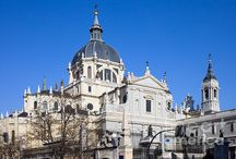 Madrid / City of Madrid in Spain: landmarks, monuments, statues, historic architecture, cityscapes, skylines, parks and gardens, urban scenery, tourist best sights and attractions.