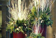 Composizione fiori natalizie