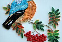Paper quilling bird
