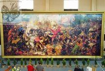 """Haftowana """"Bitwa pod Grunwaldem"""" / To tylko część moich prac :) Jeśli podobają ci się i chcesz je mieć to zapraszam do kontaktu: cohenna@o2.pl"""