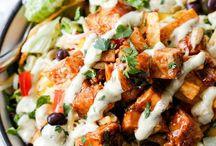 Veg & Meat Salads
