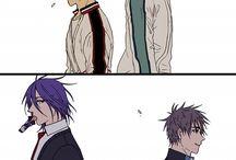 KnB MuraKiyo / Murasakibara Atsushi x Kiyoshi Teppei  Not my OTP, but i like Mura and i love Kiyoshi *_*