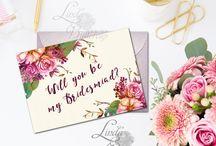 BRIDESMAIDS / bridesmaids cards, wedding cards, bridesmaid decor, bridesmaid party, wedding shower